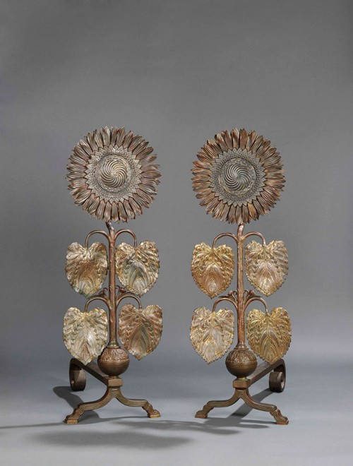 Sunflower andirons by Thomas Jeckyll, purchased by the Hunterian, University of Glasgow © The Hunterian, University of Glasgow