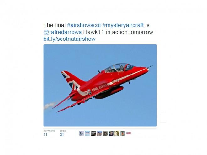 Airshow tweet