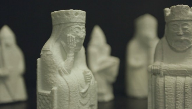 Our 3D-printed Lewis Chessmen also made an appearance at Museum Lates.