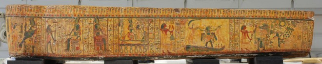 The conserved coffin of Image of Iufenamun