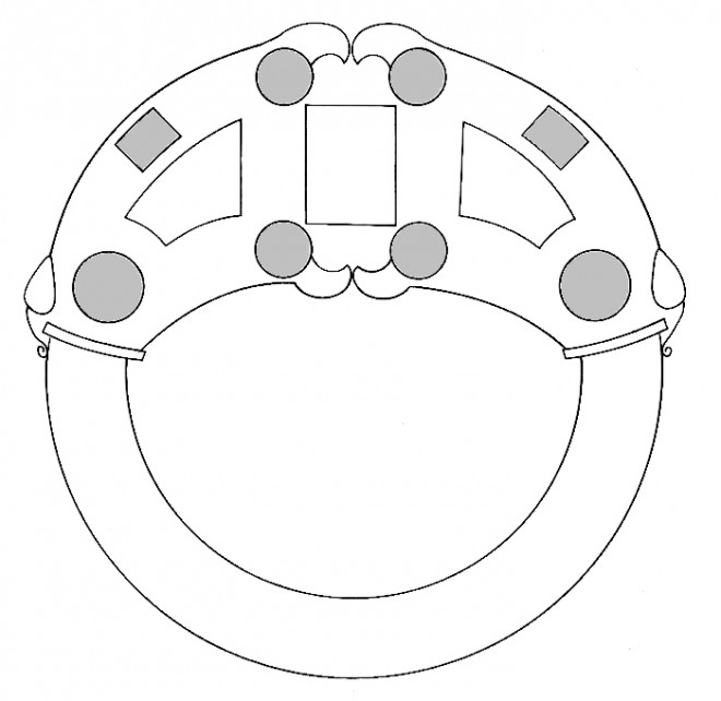 Schematic drawing of the Hunterston Brooch