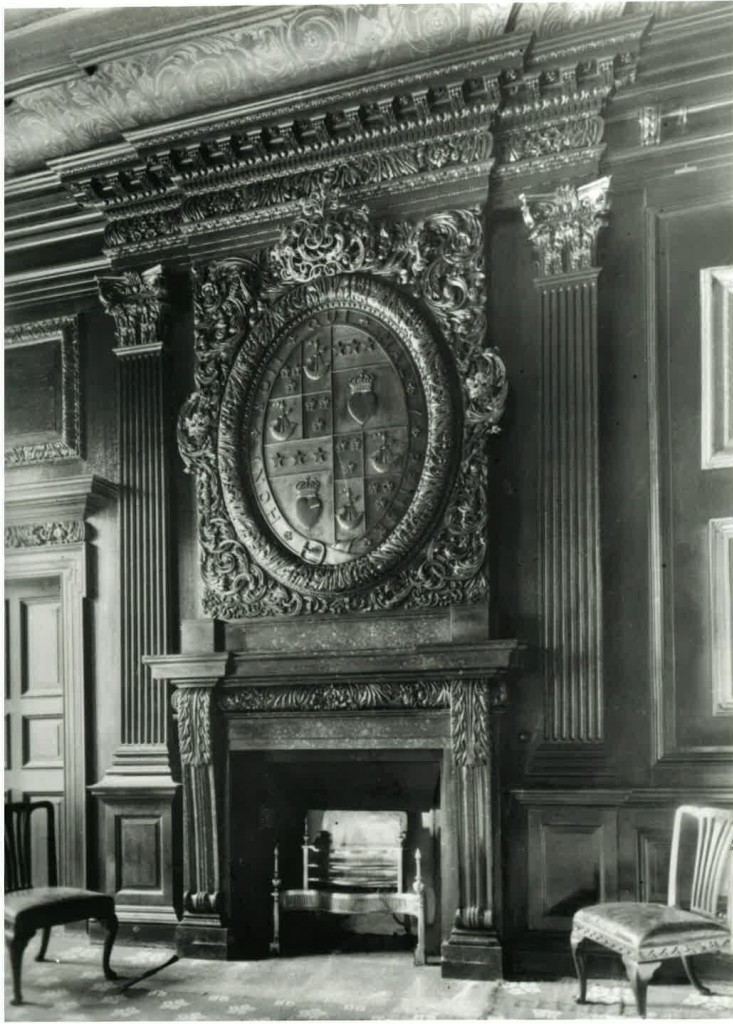 Hamilton Palace and the State drawing room, c.1919