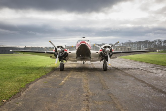 The twin-engined Beech 18 kindled Stewart Stevenson's love of flying