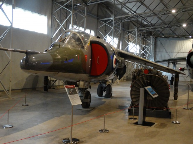 Harrier jump jet at the National Museum of Flight, East Fortune Airfield.