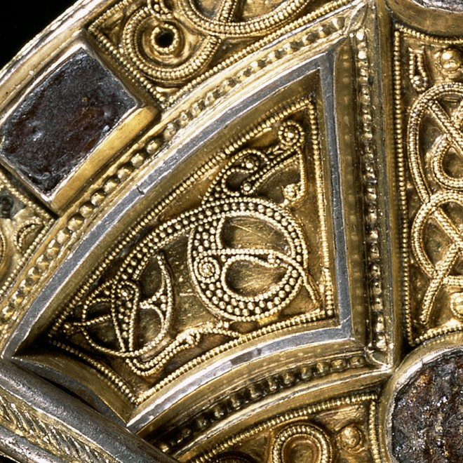 A detail of the Hunterston brooch