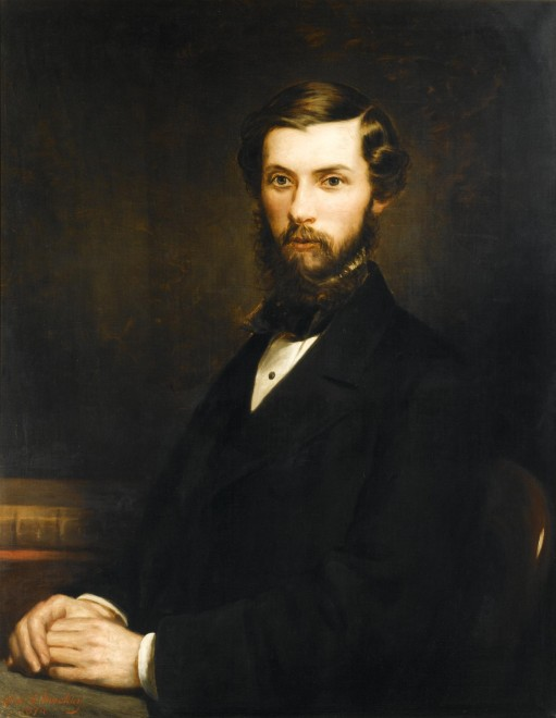 Portrait of Alexander Henry Rhind, painted by Alexander S. Mackay, 1874.