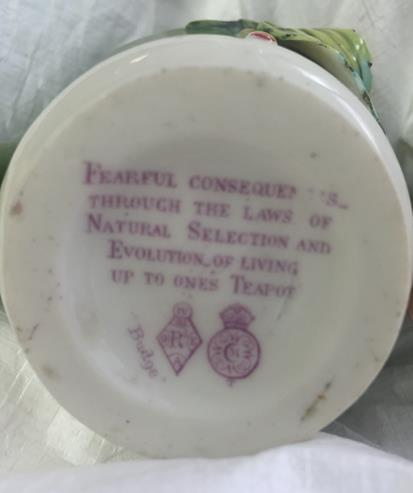 Teapot inscription