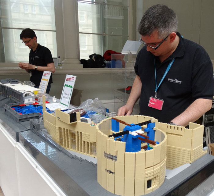 Alastair and Warren Elsmore working on the museum build.