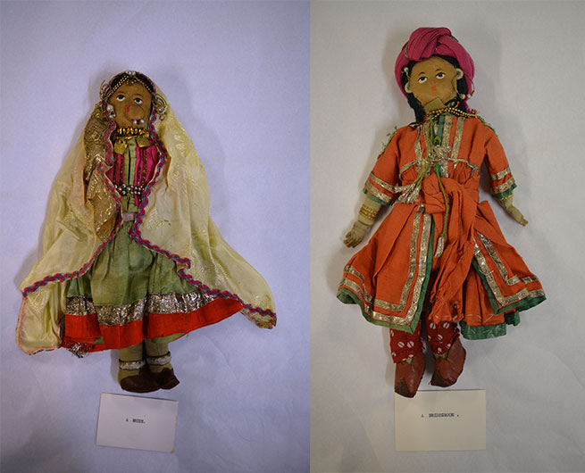 Bride and bridegroom dolls