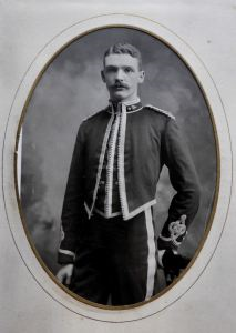 Frank Fleming in the uniform of the 1st Aberdeen Volunteer Artillery before the conflict