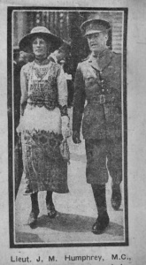 Newspaper image of Humphrey and Violet
