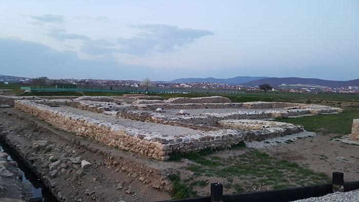 Roman ruins of the city of Ulpiana