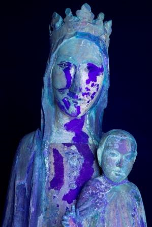 The Madonna under Ultra-Violet light