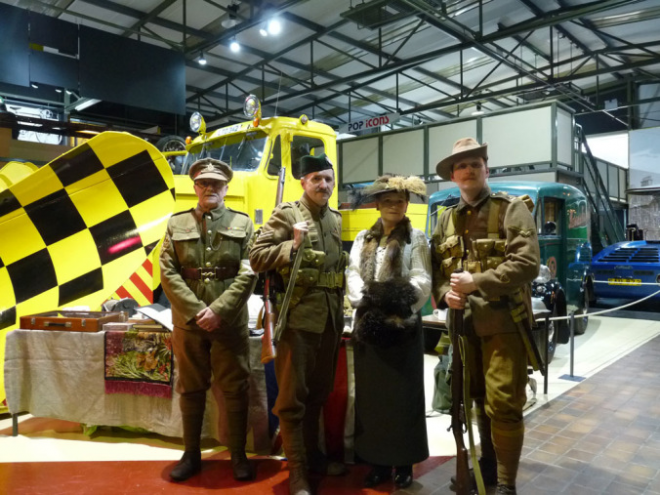 Scots in the Great War Living History Society at the exhibition opening