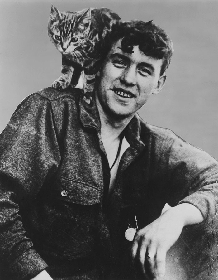 William Ballantyne and Wopsie the cat