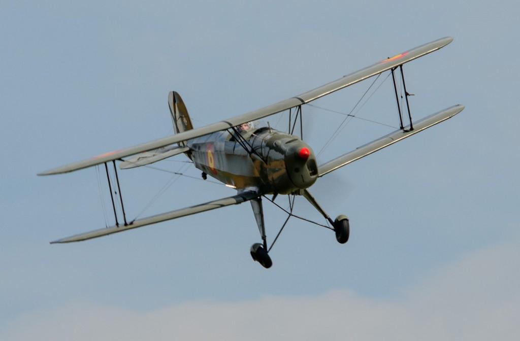 Gavin Hunter flying his Bucker Jungmann for Scotland's National Airshow in 2014. © Spencer Harbar Photography.
