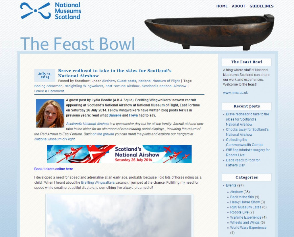 The Feastbowl blog from National Museums SCotland