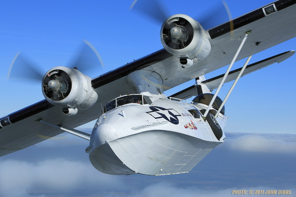 A 1940s Catalina flying boat G-PBYA © John Dibbs.