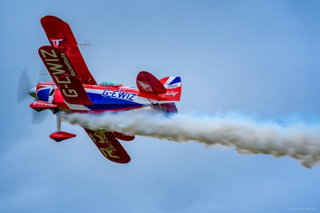 Aerial acrobatics from the Pitts S2S (Special) at Scotland's National Airshow 2016 © Spencer Harbar