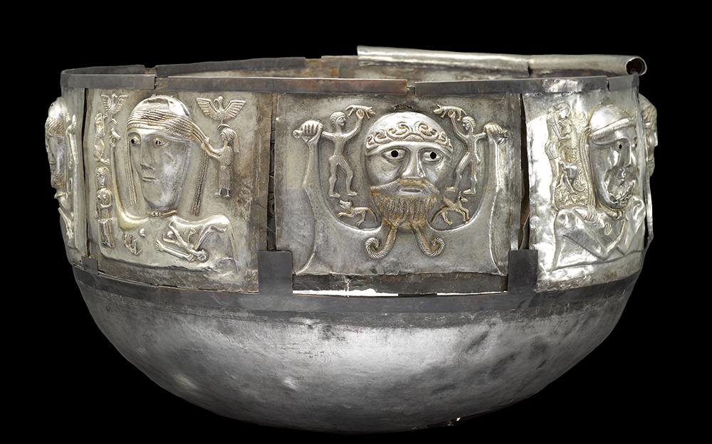 Gundestrup cauldron (150–50BC), found in Gundestrup, northern Jutland, Denmark. © The National Museum of Denmark