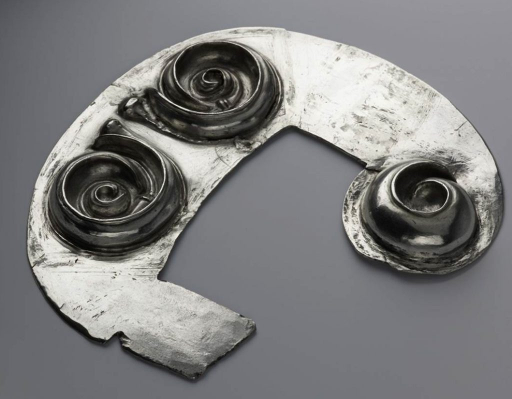 Spirals in the Norrie's Law hoard, Fife (AD 450–600), NMS