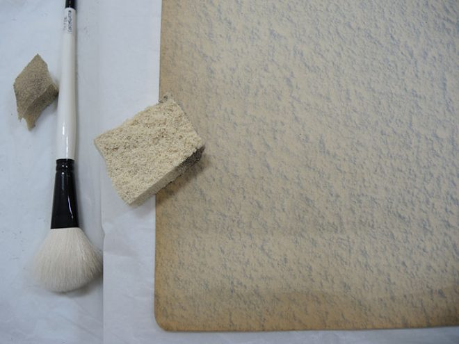 Tools used to clean the pages