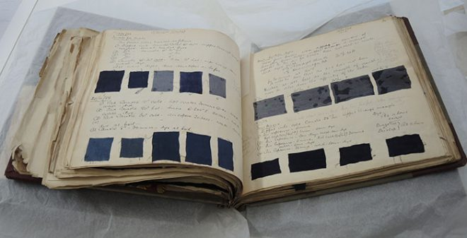 The rotation page before conservation treatment.