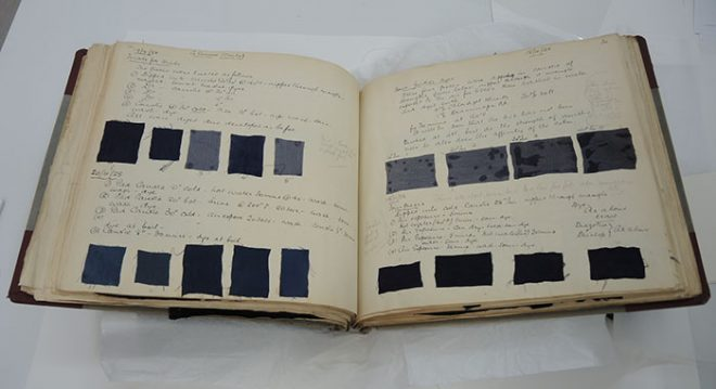 The rotation page after conservation treatment.