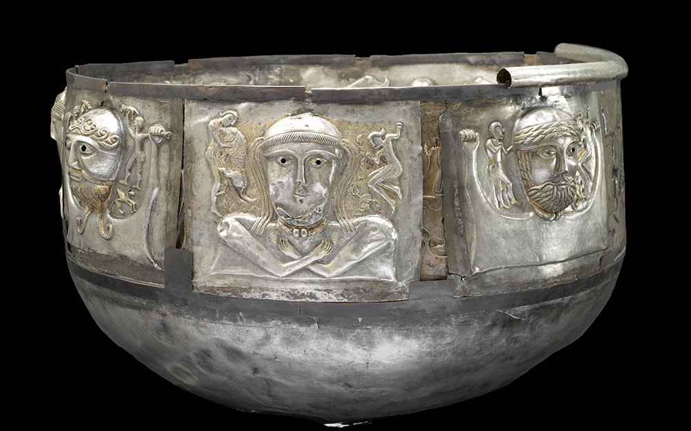 The Gundestrup cauldron. Iron Age, c. 100 BC–AD 1. Found in Gundestrup, northern Jutland, Denmark. © The National Museum of Denmark.