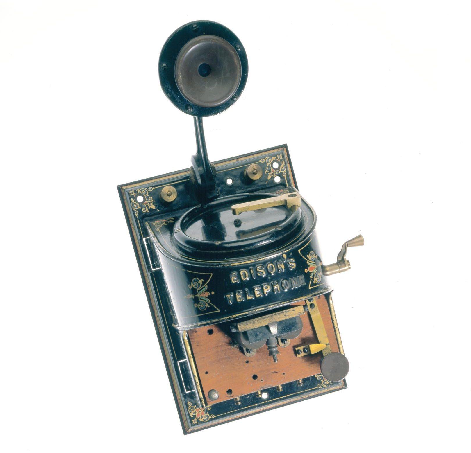 Edison loud-speaking telephone. Designe dby Thomas Edison, USA, 1879