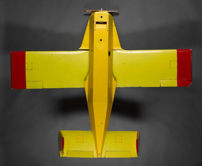 Wing section, part of a flying model 6/10 scale, of the Ferranti Phoenix, built by Ferranti joiners at Robertson Avenue, Edinburgh and used for initial trials work