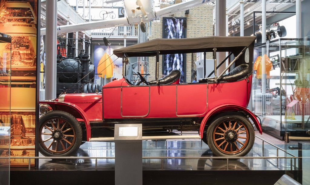 Argyll Flying Fifteen motor car, SR 390, 1910 in display in Making it at National Museum of Scotland © Ruth Armstrong