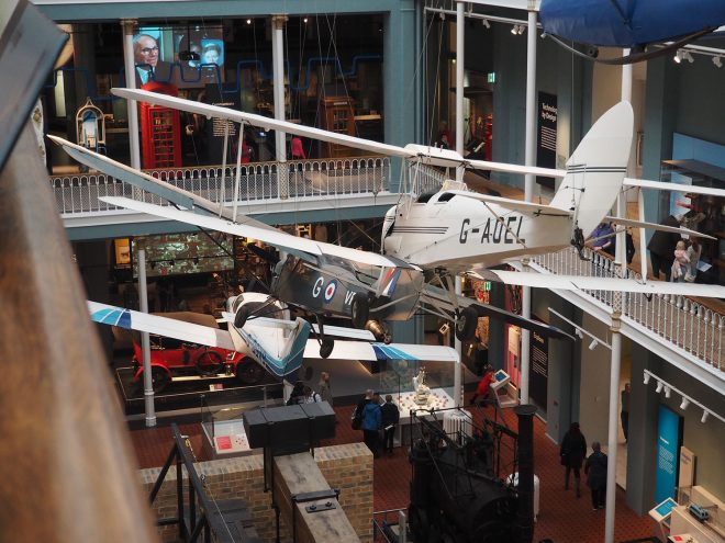 A View of the Science and Technology Galleries.