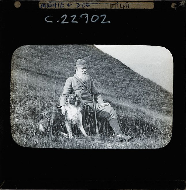 Man and dog, 1880-1920