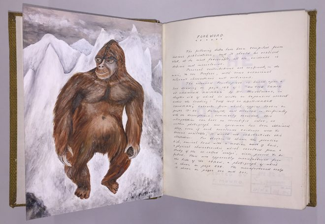 Frank Munro. The Mystery of the Yeti, Gifted to the library in 1986