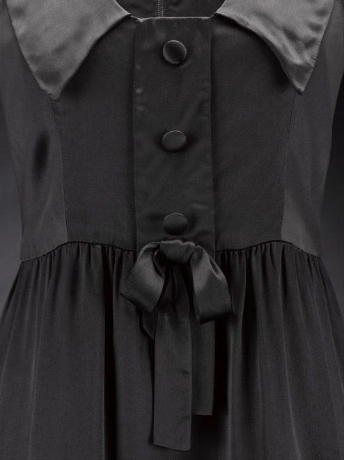 Detail of the Jean Muir 'Jane and Jane' mini dress