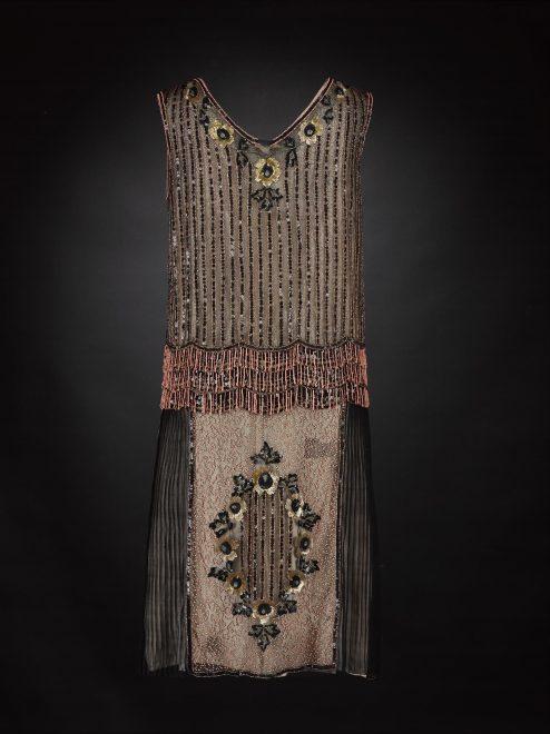 Black crepe-de-chine dress, 1927.