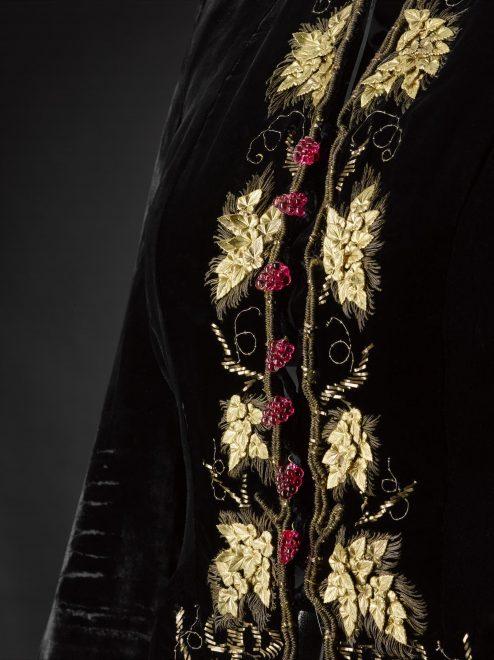 Detail of the Schiaparelli evening jacket