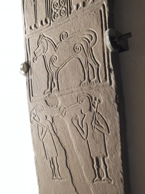 Fantastic beasts on a cross-slab from Papil, Shetland