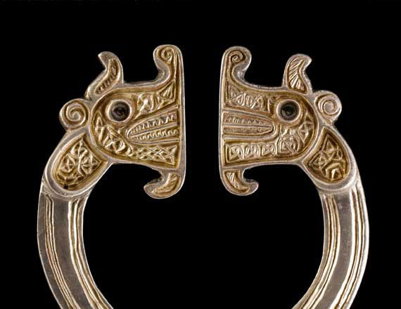 Beasts on a brooch from the St Ninian's Isle hoard