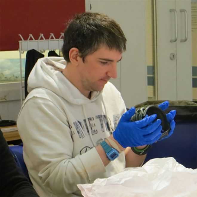 Above: Community curator researching the collections of Inverness Museum & Art Gallery © Inverness Museum & Art Gallery.