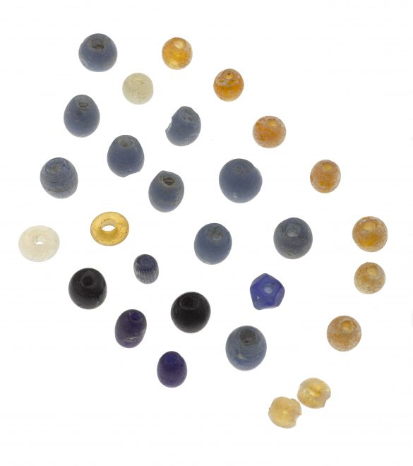Glass beads from St Ninian's Isle, Shetland