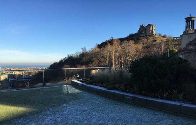 The Glenmorangie roof terrace