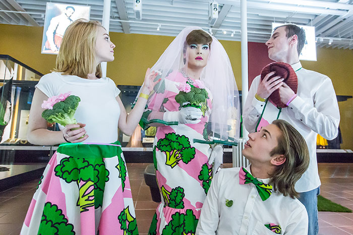 Creative Electric performing with broccoli in our Fashion & Style Gallery © Chris Scott.