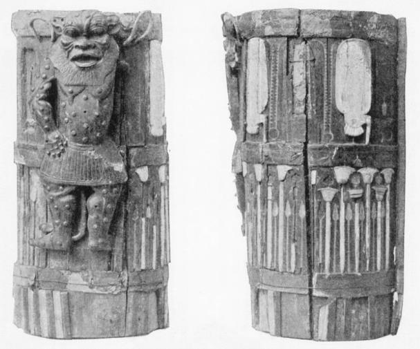 The Amenhotep II box as photographed in 1895, after its initial reconstruction.