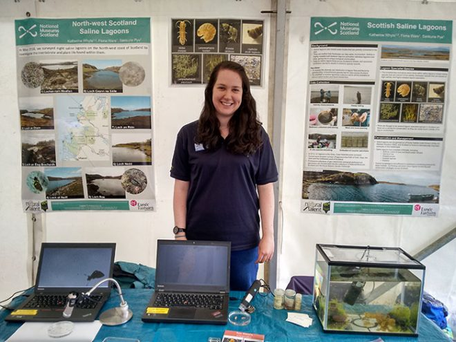 Showcasing the local lagoon wildlife at Ullapool Pier Day