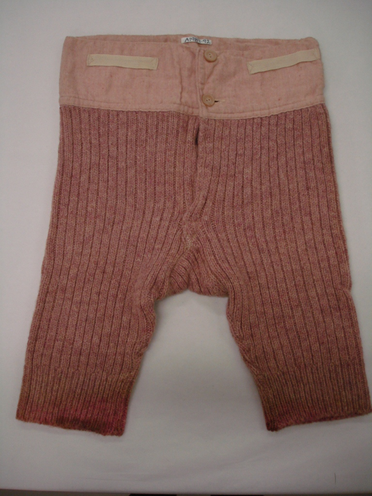 Boys wool underpants early 20th century A.1989.92