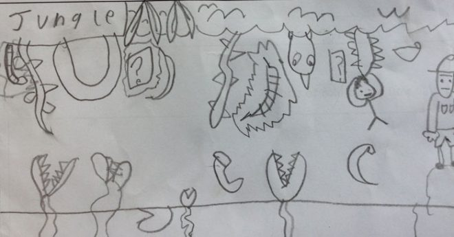 P4W's game is set in a jungle, complete with Venus Fly Traps!