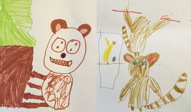 Monkey characters created by 187 Edinburgh Brownies