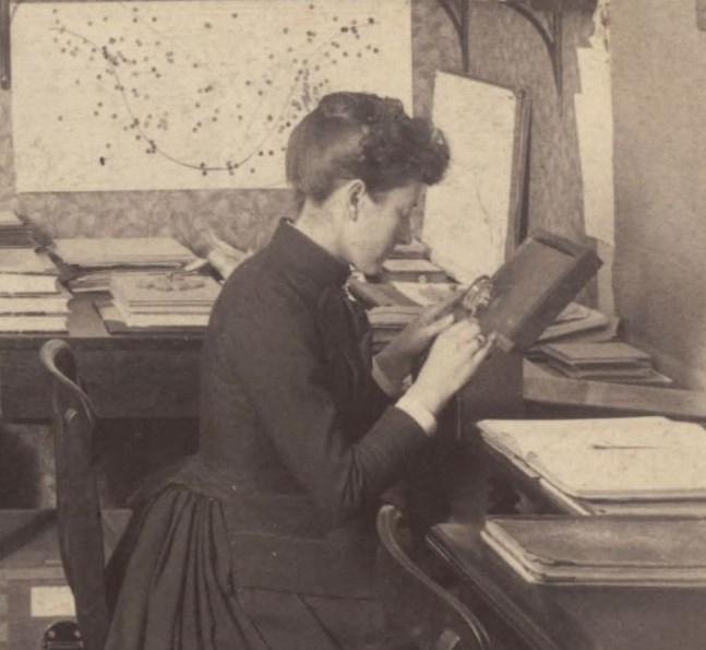 Image: Observatory [analysis of stellar spectra], 1891. HUV 1210 (9-6), olvwork289693. Harvard University Archives.